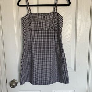 Garage black and white gingham dress